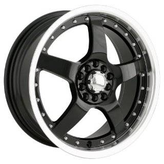 Akita Racing AK8 480 Black Wheel with Machined Lip (17x7/10x100mm)