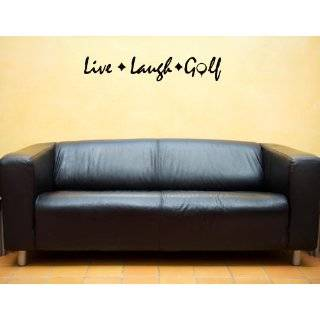 LIVE LAUGH GOLF Vinyl wall lettering stickers quotes and sayings home
