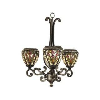 Dale Tiffany TH101132 Boehme 3 Light Hanging Light, Antique Golden