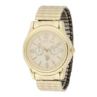 Polo Assn. Mens USC80014 Oversized Bezel Gold Dial Expansion Watch