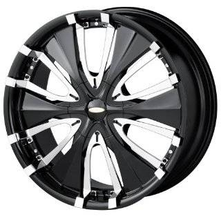 (Series 714) Black with Chrome Lip   18 x 8 Inch Wheel Automotive