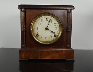 Antique Sessions Forestville Conn Mantle Clock with Pendulum Chester Pressler
