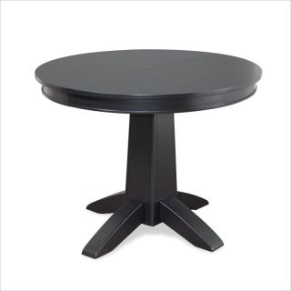 Home Styles Arts Crafts Round Black Dining Table