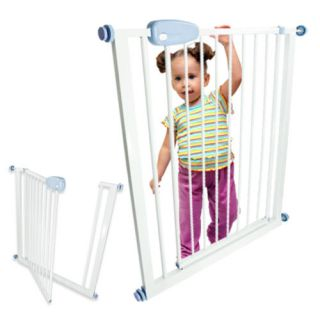 Expandable Child Safety Gate Door Fence Metal Kids Baby Pet Barrier Dog Puppy