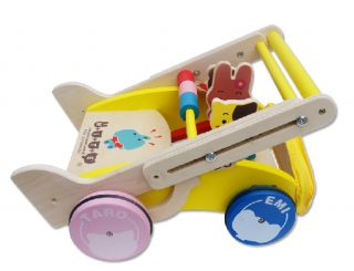 Learn to Walk Baby Intelligence Toy Pure Wood Adjustable Walker AGE1 3 K1507