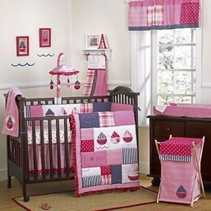 Cocalo Baby Sailboat 12 Piece Crib Bedding Set Including Bumper Mobile New