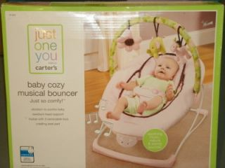 New Catrer's Just One You Gorgeous Baby Girls Musical Vibration N Sounds Bouncer