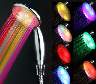 New Fashion 7 Colors Changing Romantic Bathroom Shower Head