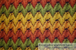 Autumn Fall Tree Leaves Green Red Yellow Leaf Mountain Curtain Valance New