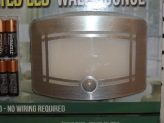 New Lightmates Motion Activated LED Wall Sconce 2 Pack Battery Operated