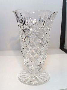 Waterford Crystal 8 1 2'' Tall Footed Flower Bud Vase Signed Mint