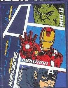 "The Avengers Iron Man Blanket 50""X60"" Throw Micro Raschel Fleece Bedding New"