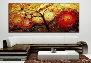 Large Modern Abstract Art Handmade Oil Painting Set Wall Decor on Canvas HB36