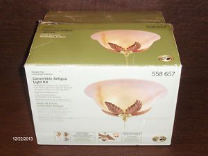 Hampton Bay Antigua Ceiling Fan Light Kit Complete w Box