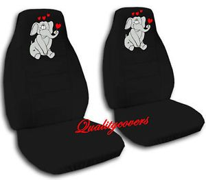Nice Set Jeep Wrangler Elephant Black Front Car Seat Covers Back Seat Cover Avbl
