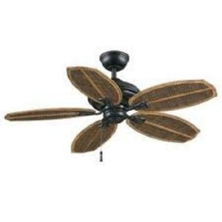 "Hampton Bay Palm Beach II 48"" Indoor Outdoor Tropical Ceiling Fan Gilded Iron"