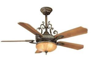 "Hampton Bay Chateau DeVille 52"" Ceiling Fan with Light Kit Remote Control"