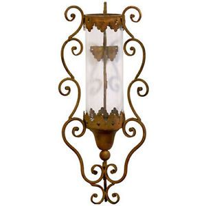"Wrought Iron Wall Sconce Candle Holder 8 5""x25"" 89856"