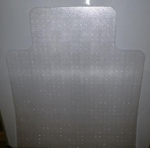 "Cleartex 129020LV PVC Chair Mat for Hard Floors Clear 48"" x 36"" Rectangle w Lip"
