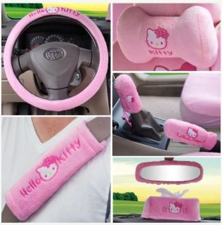 19pcs Hello Kitty Auto Car Plush Front Rear Seat Cover