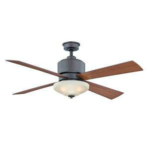 Hampton Bay Alida 52 inch Ceiling Fan with Light Kit Remote Control Bronze