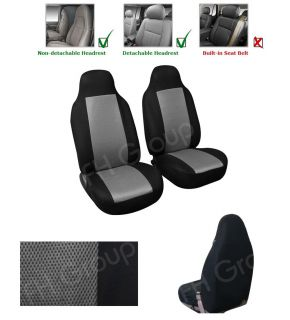 Pair Bucket Seat Covers for Honda Civic Del Sol 1993 1997