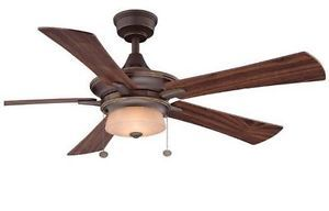 Hampton Bay Winthrop 52 inch Ceiling Fan w Light Kit in Rustic Bronze Finish