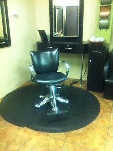 Salon Barber Chair Station Cabinet Mat Mirror Hooded Dryer Shampoo Bowl
