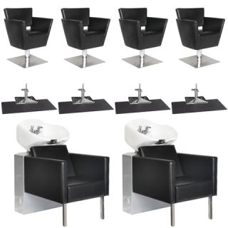 Beauty Salon Equipment Styling Chair Mat Shampoo Backwash Unit Package EB 35A