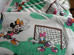 Vintage Disney Mickey Mouse Sports Theme Cotton Curtains