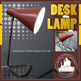 Nice Mid Century Modern Desk Table Lamp Bureau Lamp Post Art Deco Bauhaus ÈRE