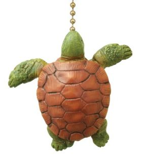Coastal Ocean Sea Turtle Baby Decorative Ceiling Fan Light Pull