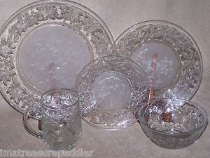Princess House Fantasia 20 PC Dinnerware Set Crystal Up to 6 Sets Available