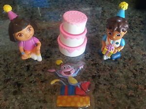 Dora The Explorer Diego Boots Cake Topper Birthday Party Figurines