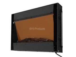 "Electric Wall Mount Backlight Fireplace 36"" Glass w Remote Control Heater 540GCL"