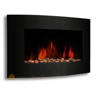 "XL Large 35""x22"" 1500W Adjustable Heat Electric Wall Mount Fireplace"