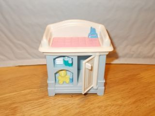 Fisher Price Loving Family Baby Changing Table Nursery Dollhouse Furniture Parts