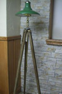 Steampunk Surveyor Tripod Floor Lamp Light Industrial Art OOAK