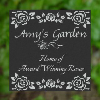 "Customized Personalized Rose Garden 12""x12"" Stepping Stone Plaque Sign Decor"