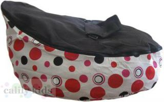 Baby Toddler Kids Portable Bean Bag Seat Snuggle Bed Pink Dot Black