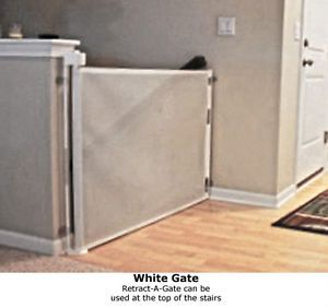 New Retractable Baby Gate Safety Dog Child Pet