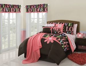 11pc Twin Girls Teen Madeline Love Comforter Bed in A Bag Super Set Multicolor