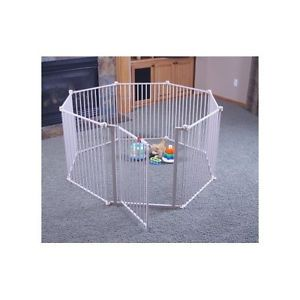 4 in 1 Metal Play Yard Regalo 8 Panels Secure Surround Baby Playpen Safety Pets