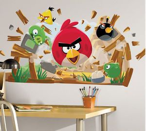 Large Angry Birds Giant Wall Decals Giant Bedroom Stickers Kids Room Decorations