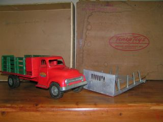 1955 Tonka Builders Supply Set Truck with Original Box and Lumber