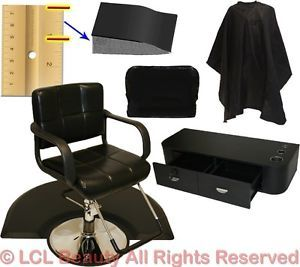 Hydraulic Barber Chair Mat Wall Mount Styling Station Beauty Spa Salon Equipment