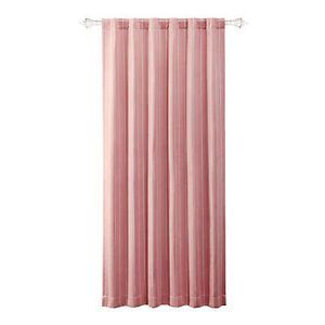 NIP Naptime Window Curtain Panel Light Pink Stripe Baby Girl Childrens Bedroom