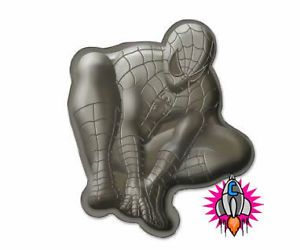 New Official Spiderman Metallic Cake Baking Tray Comic Hero Birthday Cooking