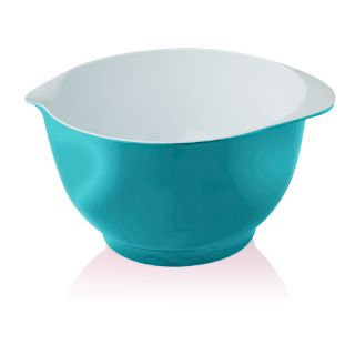 New Zeal Kitchen Aqua Blue Melamine Spouted Baking Food Mixing Bowl 3 Ltr 23cm
