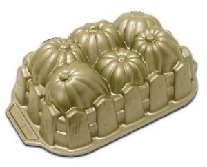 Nordicware Cast Aluminum Pumpkin Patch Loaf Pan Holiday Baking Cake Food Mold 37